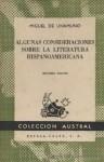 Algunas consideraciones sobre la literatura hispanoamericana - Miguel de Unamuno