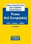 Prawo Unii Europejskiej. Testy. Kazusy. Tablice - Anna Łabędzka, Adam Łazowski, Maciej Szpunar