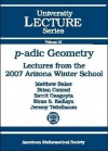 P-Adic Geometry: Lectures from the 2007 Arizona Winter School - Matthew Baker
