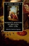 The Cambridge Companion to Women's Writing in Britain, 1660-1789 - Catherine Ingrassia