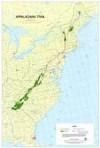 Appalachian Trail Wall Map (Maine to Georgia) - Appalachian Trail Conference