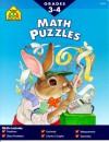 Math Puzzles, Grades 3-4 - School Zone Publishing Company, Marc Tyler Nobleman