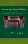 Shakespeare Sonnet Word Games Third Foolery - Joe Wocoski