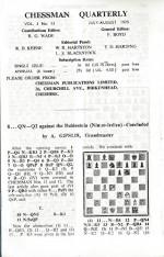 Chessman Quarterly: Vol.3, #13: July - Aug. 1970 - Robert G. Wade, L.S.Blackstock, G.S.Botterill, Avar Gipslis, T.D.Harding, W.R.Hartston