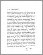 A Little Ramble: In the Spirit of Robert Walser - Robert Walser, Christopher Middleton, Susan Bernofsky, Tom Whalen