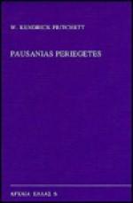 Pausanias Periegetes (Archaia Hellas) - W. Kendrick Pritchett