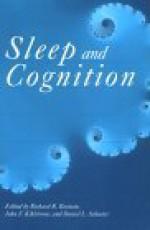 Sleep And Cognition - Richard R. Bootzin, Daniel L. Schacter, John F. Kihlstrom, Richard R. Bbotzin