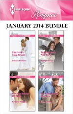 Harlequin Romance January 2014 Bundle: The Greek's Tiny MiracleThe Man Behind the MaskEnglish Girl in New YorkThe Final Falcon Says I Do - Rebecca Winters, Barbara Wallace, Scarlet Wilson, Lucy Gordon