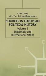 Sources In European Political History - Chris Cook, Tim Kirk, Bob Moore