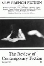 New French Fiction (Review of Contemporary Fiction, Spring 1989, Vol. IX, No. 1) - John O'Brien, Jacques Roubaud, Jeanne Hyvrard, Eugène Savitzkaya, Danièle Sallenave, Daniel Boulanger, Patrick Modiano, Patrick Grainville, Muriel Cerf, Marc Cholodenko, Yves Navarre, Annie Ernaux, Mathieu Bénézet, Chantal Chawaf, Rezvani, J.M.G. Le Clézio, Jean Vau