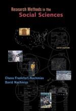 Research Methods in the Social Sciences w/Data Disk (Windows) - David Nachmias, Chava Frankfort Nachmias