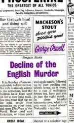 Decline of the English Murder - George Orwell