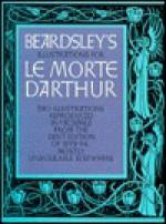 Illustrations for La Morte D'Arthur - Aubrey Beardsley