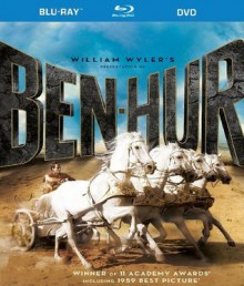 Ben-Hur (50th Anniversary Blu-ray/DVD Combo Pack) [Blu-ray] - Charlton Heston, T. Gene Hacker, Jack Hawkins, Haya Harareet, Stephen Boyd, Hugh Griffith, Martha Scott, Cathy O'Donnell, Sam Jaffe, Finlay Currie, Frank Thring film jesus A Tale of the Christ mgm m-g-m metro goldwyn mayer story stories tale tales, William Wyler, Sam