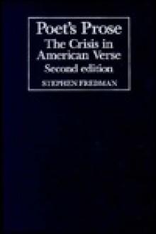 Poet's Prose: The Crisis in American Verse - Stephen Fredman, Albert Gelpi