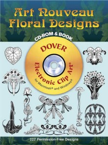 Art Nouveau Floral Designs CD-ROM and Book - Marty Noble