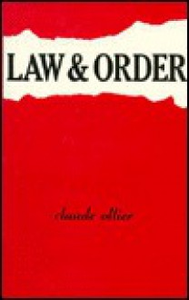 Law and Order (Le Maintien de l'Ordre) (French Series) - Claude Ollier