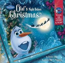Frozen Olaf's Night Before Christmas Book & CD - Disney Book Group, Disney Storybook Art Team